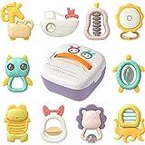Sonajeros para bebés recién nacidos, batido sensorial para la dentición y agarre para la educación temprana, para animales de