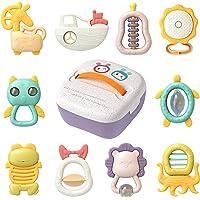TUMAMA Giocattoli per Bambini da 6 Mesi Sonaglio Massaggiagengive Set Shaker Grasping Toddler Neonato Campane Sonagli a…