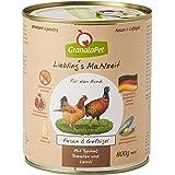 GranataPet Liebling's Comida faisán y Aves de Corral, Comida húmeda para Perros, sin Cereales ni azúcares, alimento Completo