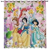Baryy Rideaux Occultants à Oeillets, 3D Rideaux Occultants Princesse Disney, 150 x 166 cm (LxH) – Isolant Phonique et…