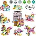 AILUKI 110 stuks magnetische bouwblokken, set magnetische bouwstenen, constructieblokken, DIY 3D educatief speelgoed, verjaar