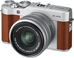 Fujifilm X-A5 Mirrorless Cameras with Adaptor XC 15-45mm f3.5-5.6 OIS Lens (Brown)