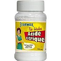 STARWAX FABULOUS Acide Citrique - 400g - Idéal pour Détartrer les Bouilloires et Cafetières