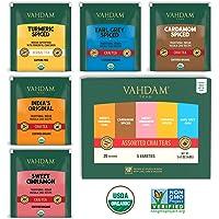 VAHDAM, Campionario di Tè Chai, 5 TÈ - Tè Chai in Bustina Assortito | Tè Cardamomo, Tè alla Cannella, Tè Masala Chai…