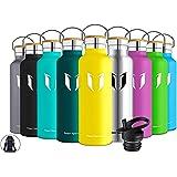 Super Sparrow Trinkflasche Edelstahl - 350ml, 500ml, 750ml - Auslaufsicher Thermoskanne, BPA-Frei Wasserflasche - Kohlensäure