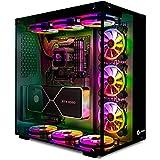 Talius Cronos Caja Gaming ATX, Cristal Templado, Ventiladores Iris RGB (Disponible en Dos Colores) (Black)