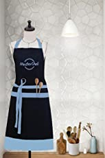 "Milano Home""MasterChef"" Embroidered 100% Cotton Apron with Adjustable Neck & Centre Pockets"