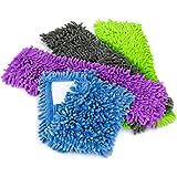 com-four® 4X Housse de Remplacement pour essuie-Glaces, Housse d'essuyage en Microfibre Chenille pour Un Nettoyage en Profond