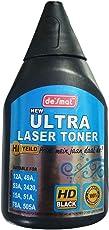 Desmat New Ultra Laser Toner Powder HD Black Suitable for 12A, 49A,53A, 2420, 15A, 51A, 78A, 505A