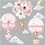 Little Deco Muursticker muursticker kinderkamer dieren heteluchtballon muursticker bloemen wanddecoratie speelkamer babykamer