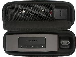 Travel Hard Case Tragetasche für Bose Soundlink Mini / Mini 2 Bluetooth Portable Wireless Lautsprecher. Passend für die Wandladegerät und Ladeschale. Von Comecase