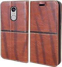 For Mi Redmi Note 4 - Unistuff® Impact Resistant Wallet Folio Flip Cover with [1 Debit/Credit Card slot][Anti-Slip Design][Drop Protection] for Mi Redmi Note 4 (Khaki, Artificial Leather, 360* Protection)