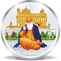 ACPL Precious Moments Silver Coin Guru Nanak Dev Ji at Gurudwara 999 Pure