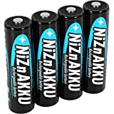 ANSMANN Pack de 4 pilas recargables AA Níquel-Zinc - De 1.6V y 2500mWh - Sin efecto memoria - Carga rápida - Para aparatos de