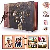 EKKONG My Adventure Book Bricolage Photos Albums, Vintage Scrapbook Photo Album pour Cadeau d'anniversaire, Anniversaire de M