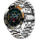 LIGE Montre Connectée Homme,Smartwatch Montre à Ecran Tactile Complet 1,3'', Montre Intelligente IP67 Aacier Inoxydable avec