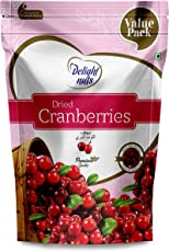 Delight Nuts Dried Cranberries -750gm (Value Pack)