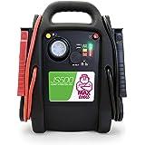 MAXTOOLS JS500, Démarreur d'urgence à batterie pour voitures et camionnettes, 2200A 22Ah, pour moteurs 12V Diesel et essence,