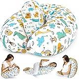 Bamibi® Almohada Embarazada y Cojín Interno Multifuncional, Cojín Lactancia Bebé. Fundas de Algodón, Relleno de Poliéster. Pr