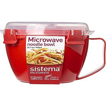 Sistema 1109 Microwave Noodle Bowl, Red, 940 ml