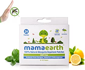 Mamaearth Natural Repellent Mosquito Patches for Babies, White, 24 Patches