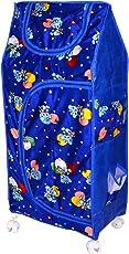 Tender Care Multipurpose 4 Shelve Foldable Almirah/Toy Box (Blue)