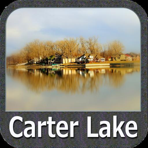 Carter Lake - IOWA GPS Map Lowrance-gps-software
