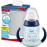 Nuk Nuk First Choice+ Bicchiere Antigoccia Learner Cup Night | 6-18 Mesi | Beccuccio In Silicone A Prova Di Perdite| Blu - 15