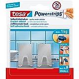 tesa Powerstrips haken S metaal, rechthoekig, metaal, klein
