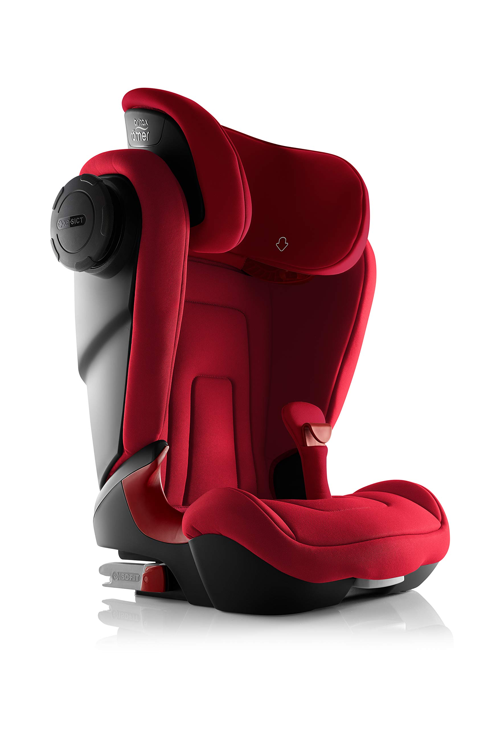 Britax Römer KIDFIX² S Group 2-3 (15-36kg) Car Seat - Fire Red Britax Römer Advanced side impact protection - sict offers superior protection to your child in the event of a side collision. reducing impact forces by minimising the distance between the car and the car seat. Secure guard - helps to protect your child's delicate abdominal area by adding an extra - a 4th - contact point to the 3-point seat belt. High back booster - protects your child in 3 ways: provides head to hip protection; belt guides provide correct positioning of the seat belt and the padded headrest provides safety and comfort. 4