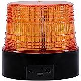 LED zwaailicht rondom, geel zwaailicht voor auto aanhanger caravan SUV - magnetische voet - 12V/80V Draadloos oranje.