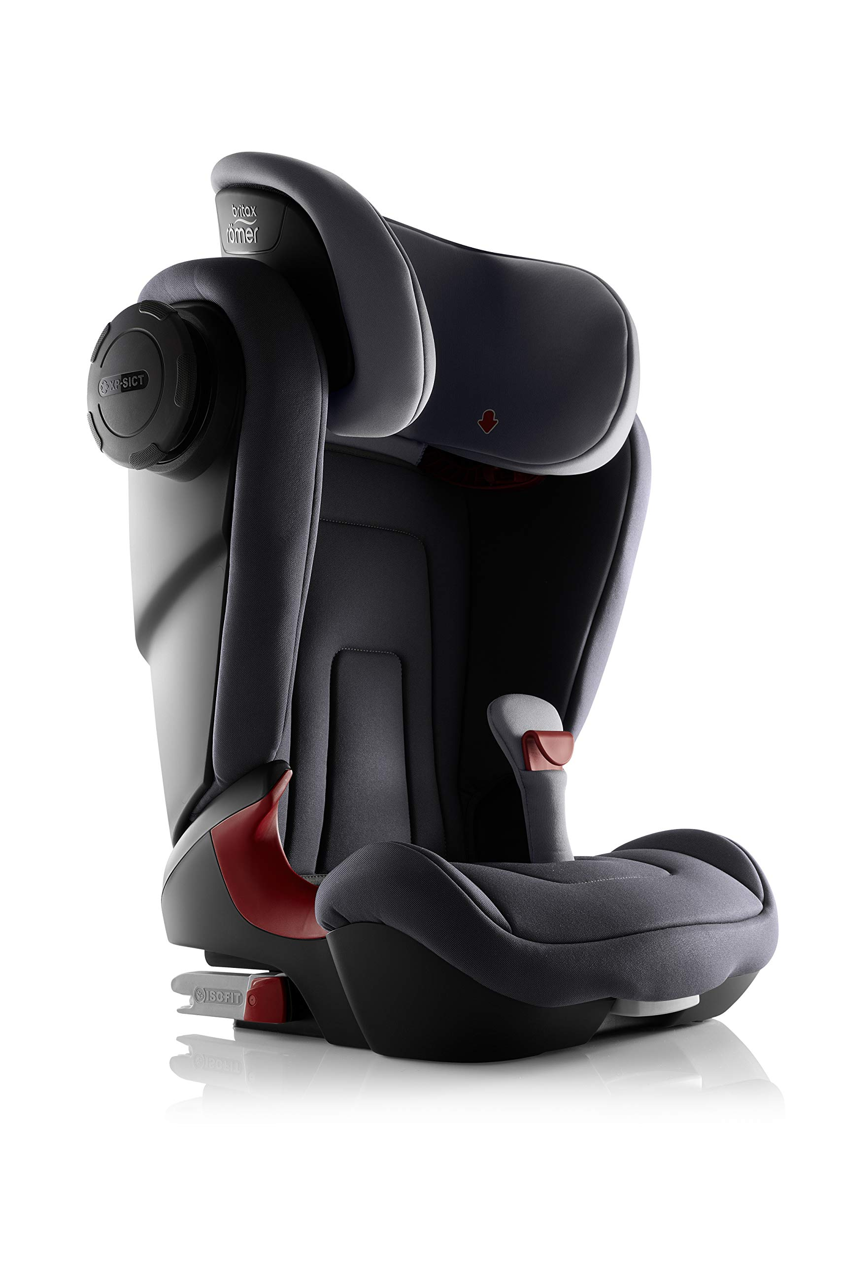 Britax Römer KIDFIX² S Group 2-3 (15-36kg) Car Seat - Storm Grey  Advanced side impact protection - sict offers superior protection to your child in the event of a side collision. reducing impact forces by minimising the distance between the car and the car seat. Secure guard - helps to protect your child's delicate abdominal area by adding an extra - a 4th - contact point to the 3-point seat belt. High back booster - protects your child in 3 ways: provides head to hip protection; belt guides provide correct positioning of the seat belt and the padded headrest provides safety and comfort. 4