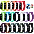 ivoler 20 Stuks Kleuren Armband voor Xiaomi Mi Band 5/6 Watch Strap, Silicone Polsband Vervanging Waterproof, Wearable, Breat