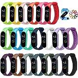 iVoler Cinturino Mi Band 5, [20 Pezzi] Bracciale Cinturini di Ricambio per Xiaomi Mi Band 5 e Amazfit Band 5 Cinturino di Ric
