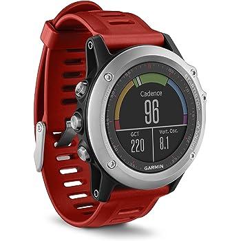Garmin Fénix 3 - Reloj estándar multideporte con GPS diseñado para resistir, color rojo