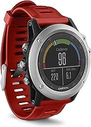 Garmin Fenix 3 Smartwatch GPS Multisport, Display a Colori, Altimetro Barometrico e Bussola Elettronica, Argento/Rosso