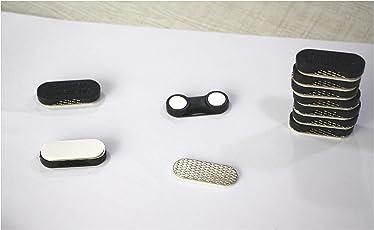 TRIOMAG® 10 sets of Small Magnetic Blue Bagde Holder / Tag Holder 30mm Wide (10 pcs)