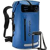 Earth Pak wasserdichter Rucksack – 35L / 55L Waterproof Backpack mit leistungsstarkem Rolltop Rollverschluss, Reißverschluss