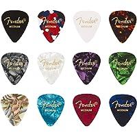 """Fender© """"351 Medley"""" Plettri in celluloide per Chitarra e Basso - Colori vari - Medium - Set di 12"""