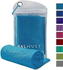 Balhvit Kühlung Handtuch, Microfaser Handtuch, Schweißsaugfähig Kühlendes Kaltes Eishandtuch, Sofort Eis Kalt Sport Mikrofaser Handtücher für Fitness Reise Yoga Golf Schwimm Camping Wandern