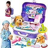 HERSITY Cuidado de Mascotas Juguete Maletin Veterinario Juguete Disfraz de Veterinario Juego de Roles Regalos para Niños Niña