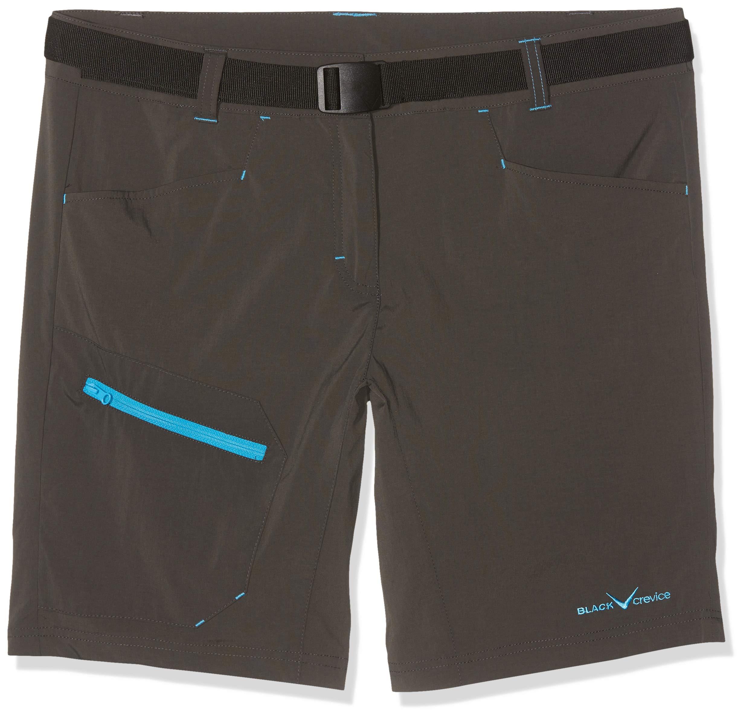 Black Crevice Damen Trekking Shorts, anthrazit, 44
