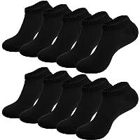 RUIXUE Mens Sports Socks, 10 pairs Breathable Trainer Running Socks for Women Men, Cotton Walking Socks Low Cut Ankle…