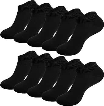 RUIXUE Mens Sports Socks, 10 pairs Breathable Trainer Running Socks for Women Men, Cotton Walking Socks Low Cut Ankle Socks Hiking Socks for Casual and Athletic Wear