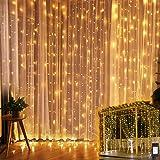 Luces Decorativas, Cortina de Luces Led 6mx3m 600 Led Luz Cadena Decorativa Impermeable con 8 Modos para el hogar, Para Fiest