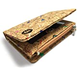 Money Smart Vegan Cruelty Free Non Leather Wallet for Women, Made of Cork with RFID Protection, with Slots for Notes, Cards,