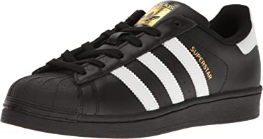 adidas Originals Women's Superstar Running Shoe, Black/White/Metallic Gold, (5.5 M US)