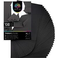OfficeTree 100 Feuilles de papier en noir - enfants Papier DIN A4 pour bricoler et construire - 130 g/m²