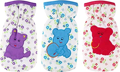 Littly Floral Print Bottle Covers Combo (Pack of 3, Multicolor)
