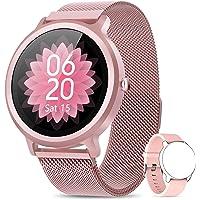 NAIXUES Smartwatch Damen Fitness Tracker Fitness Armbanduhr mit Pulsuhr Schlafmonitor IP68 Wasserdicht Smart Watch…